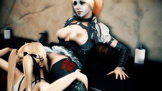 Harley Quinn hat den Joker betrogen, indem sie Marie ihre Muschi lecken ließ
