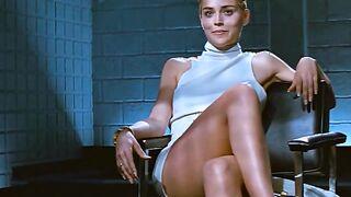 Sharon Stone beleuchtete ihre Muschi während des Verhörs im Film Basic Instinct