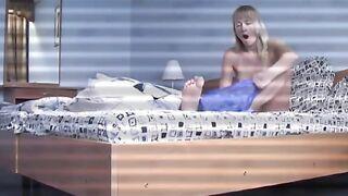 Eine versteckte Kamera in einem Hotelzimmer schoss ein nacktes Mädchen