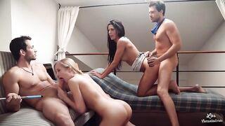 Sexparty mit mageren Huren