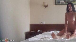 Ein paar Jungvermählten haben in einem Hotelzimmer in Antalya Heimpornos gedreht